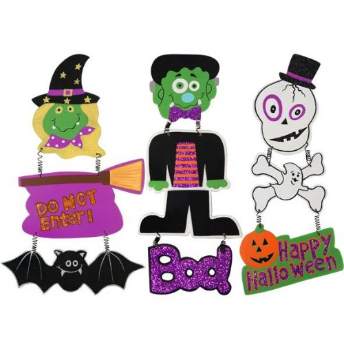 1 Halloween Hanging Witch / Frankenstein / Skeleton Party Decorations & Accessories